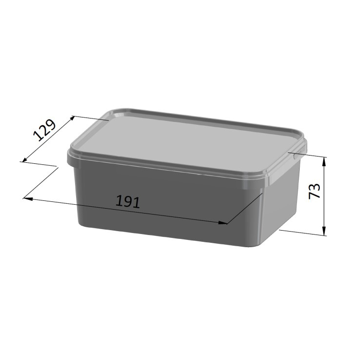 1 Litre Square Container