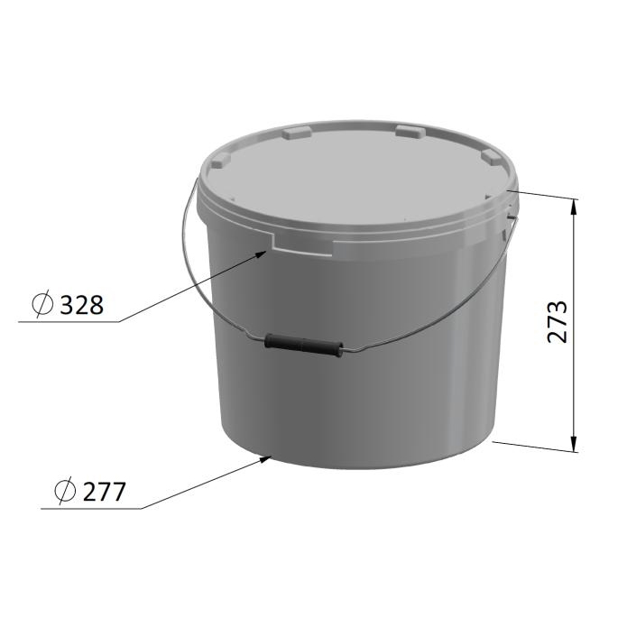 15 Litre Round Container
