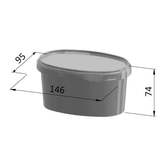 500ml Oval Container